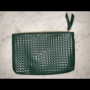 Green Geometric Makeup Bag